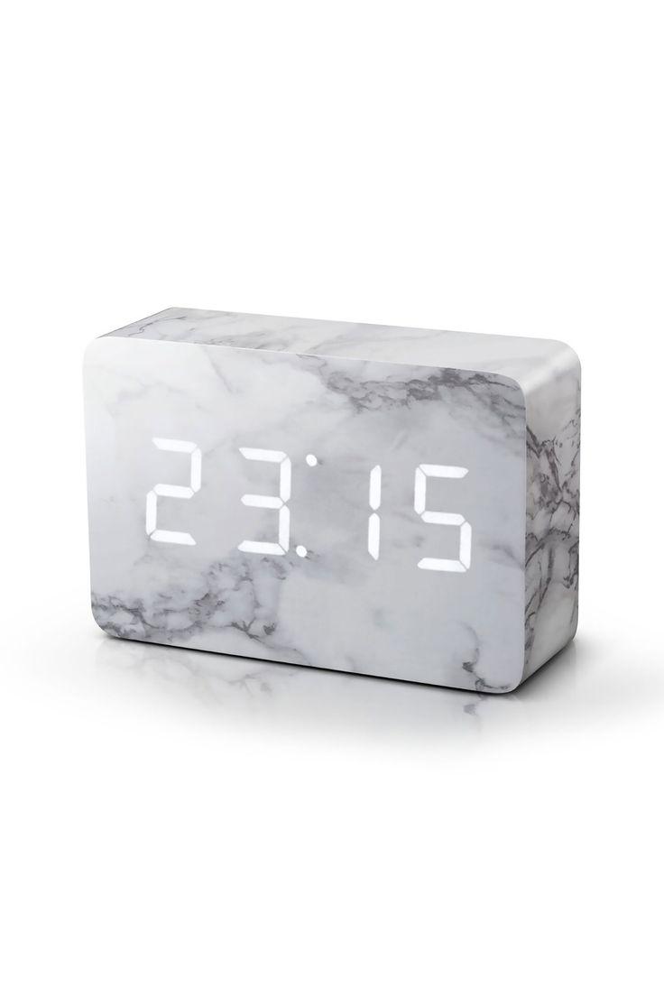 Brick Click Clock, Marble | BHS