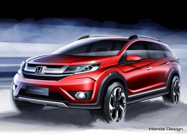 Honda BR-V Compact SUV Based On Brio Sketch Revealed