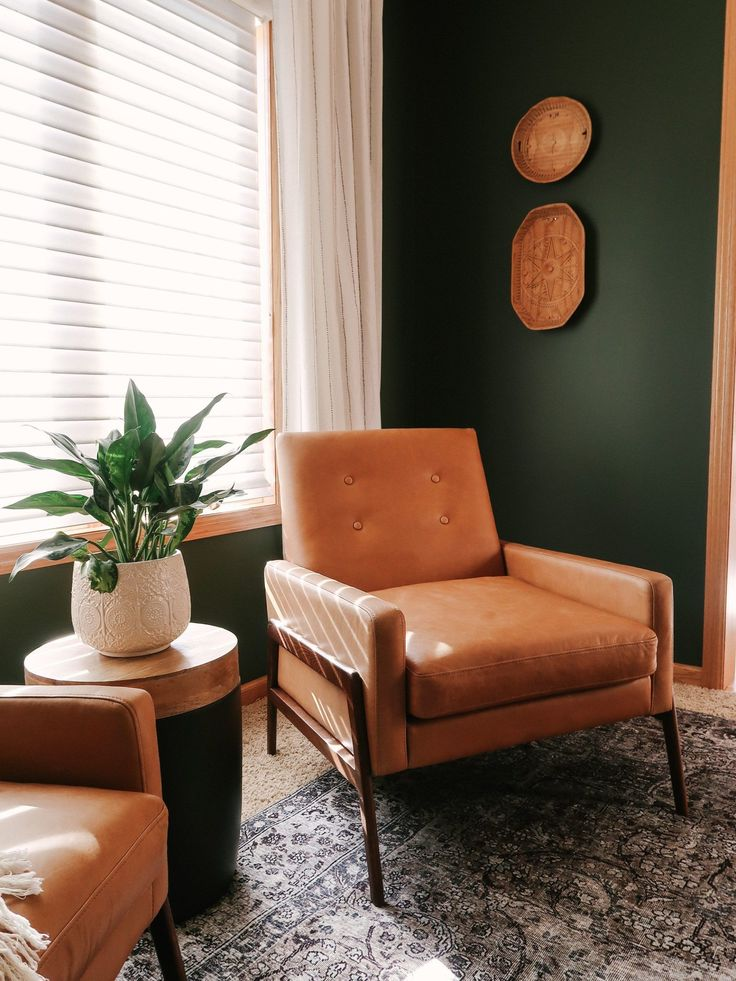 Dark Green Wall Paint Inspiration (with Swatches and Paint ...