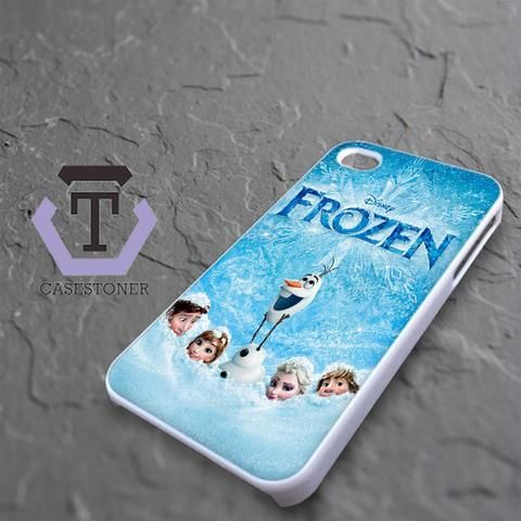 Disney Frozen Cover Poster Movie iPhone 4|iPhone 4S Black Case