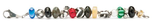 A Summer of Stories Bracelet Featuring Soccer Ball, Team, Champion and Cherub Beads