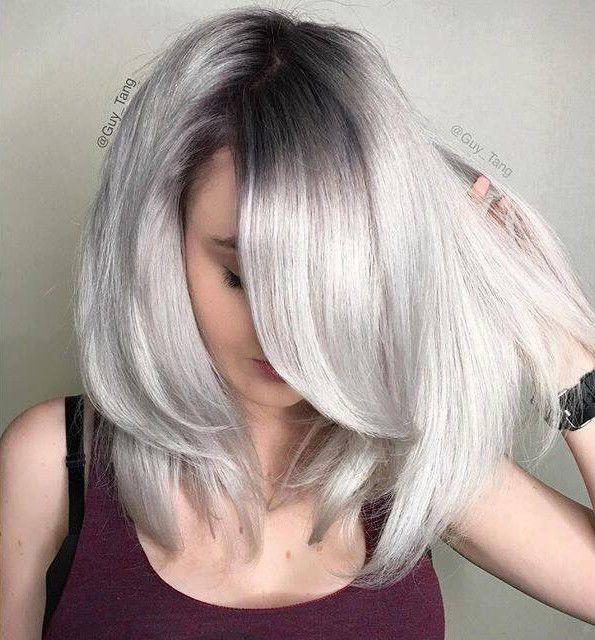 Color 10sm Extra Light Blonde Silver Metallic Grey Hair