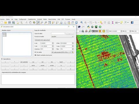 NDVI e índice de humedad indexada en SENTINEL 2A/Landsat 8 qGis