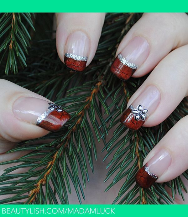 French nail designs for christmas