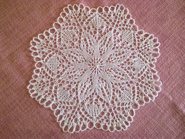 My knitted doily modified from a free ravelry pattern