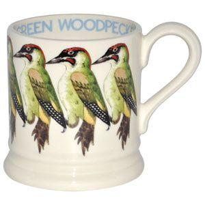 Green Woodpecker 1/2 Pint Mug
