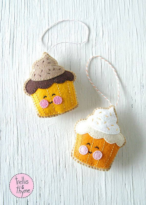 This listing is for an instant-download PDF-PATTERN. It is not a finished toy. Cupcakes are cute and sweet and perfect for any occasion! This darling felt cookie is stitched entirely by hand, and is the perfect pattern for beginners. Stitch one to brighten up your home or work-space, or make a bunch of them and string them in a garland! Theyre sure to bring a smile all day long! Finished ornament is approximately 4 inches tall. Skills required: - Basic embroidery skills - Blanket stitch…