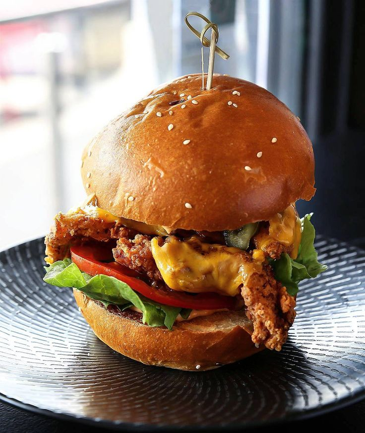 If you're not in the mood for too much bling the home of golden burgers and shakes has other burgers too. For a slight kick check out The Hotshot with fried chicken cheese lettuce tomato jalapeños bacon and chipotle @phatstacksburgers