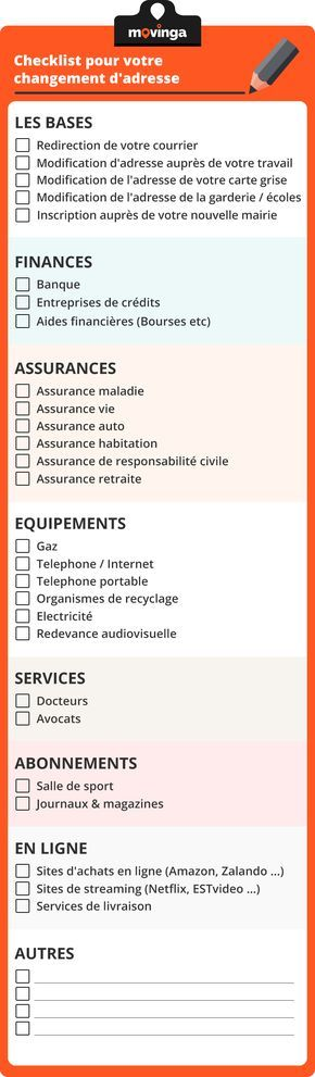 La check-list indispensable pour votre changement d'adresse ! | demenagement | astuces | aides demenagement | tips moving | astuces demenagement