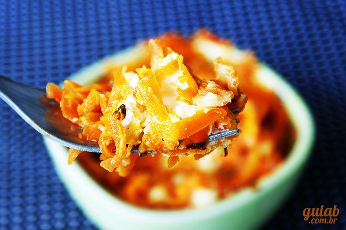 Cenoura refogada com cream cheese