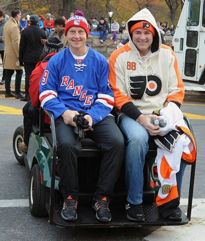 Adam Graves and Eric Lindros