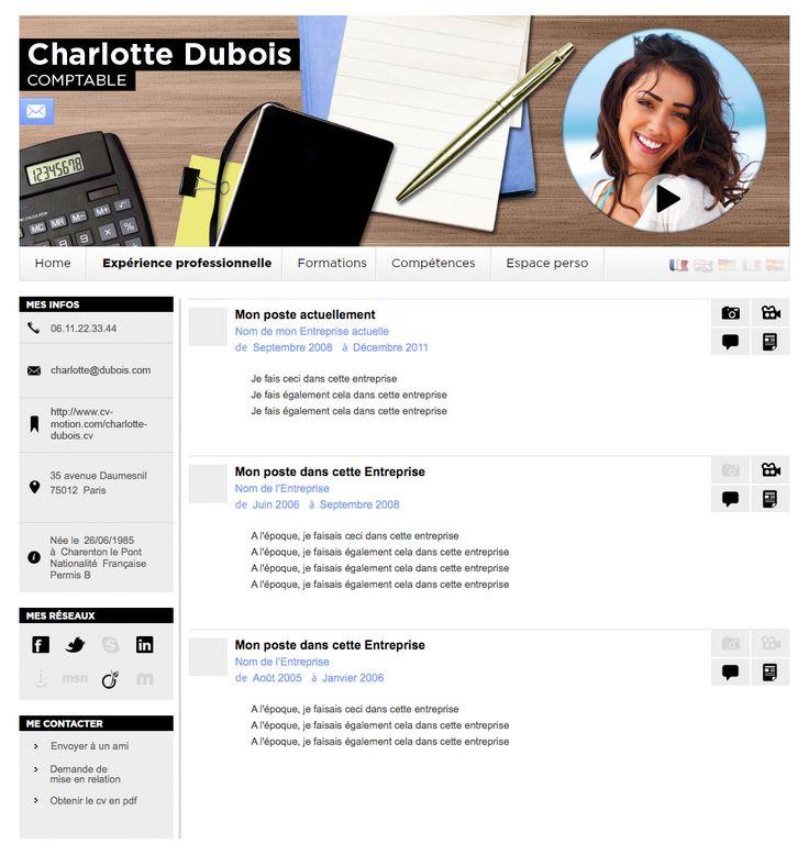 design cv comptable