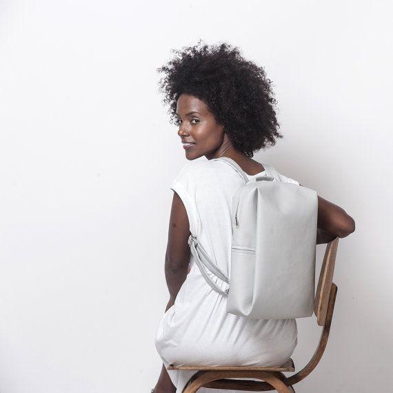 Mochila blanco, bolsa de ordenador portátil impermeable, mochila de tela, bolsa mochila, bolso del ordenador portátil 13, las mujeres del bolso del ordenador portátil, morral del ordenador portátil, mochila de lona