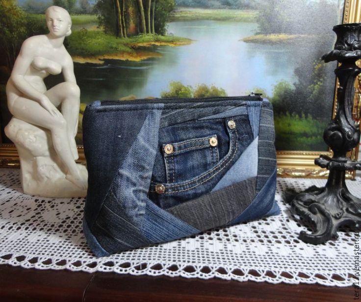 Купить Сумка Виолетт джинс - синий, однотонный, джинсовый стиль, джинс, джинса, джинсовая сумка