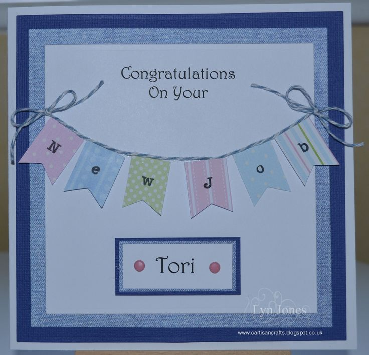 "A commissioned ""Congratulations on your new job"" card"