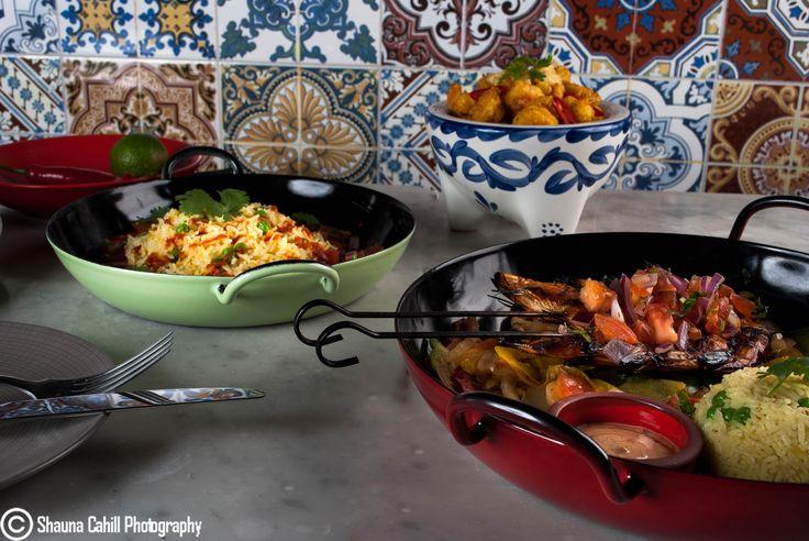 Stunning colourful Paella dishes from Hugh Jordan