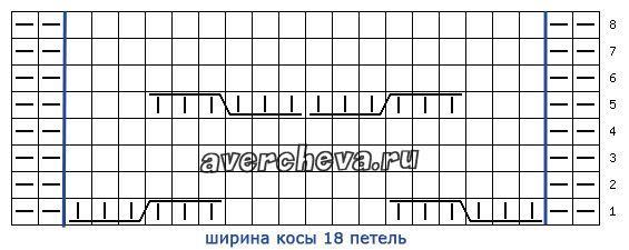 схема узора 409