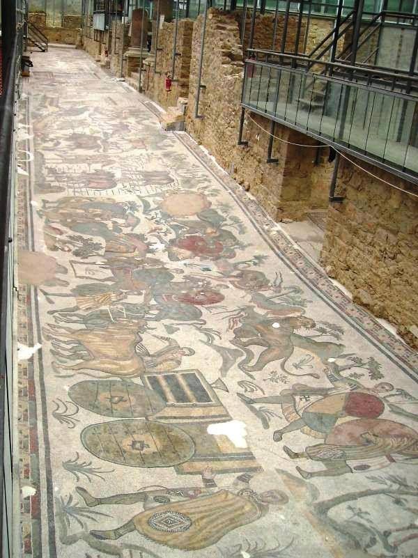 Villa romana del Casale. Piazza Armerina. Sicilia. The most intricate Roman mosaics in the world