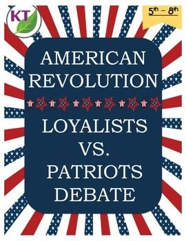American Revolution Loyalist vs. Patriot Debate
