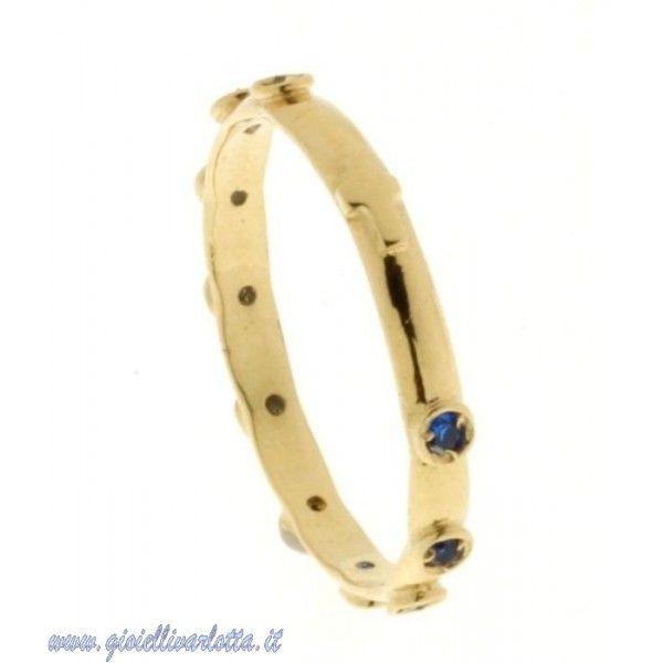 #AnelloRosario in #OroGiallo Zirconi #Blu e Croce liscia http://www.gioiellivarlotta.it/product.php?id_product=1451
