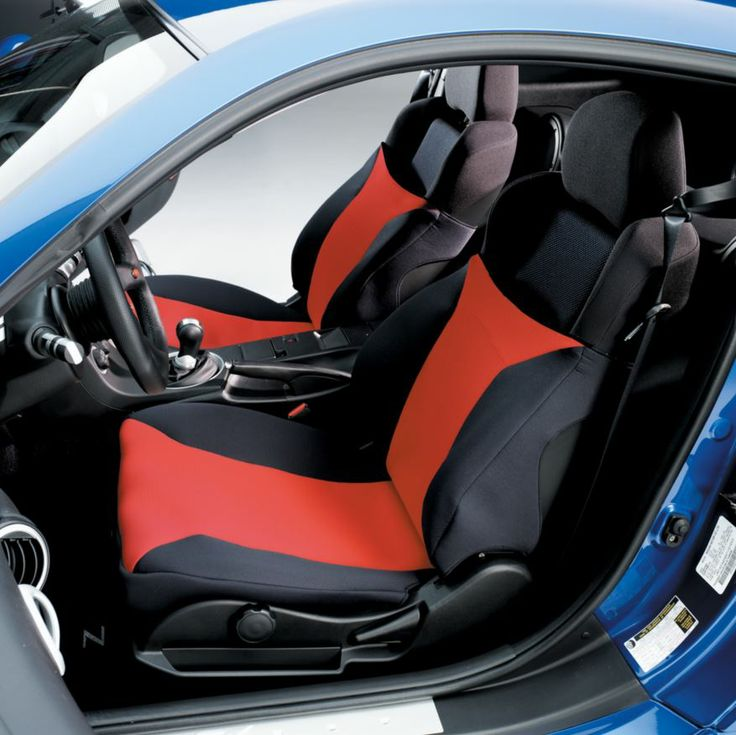 SeatGlove, a seat cover for bucket seats.