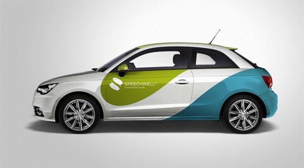 Speechwell car wrap: http://www.behance.net/gallery/Speechwell-Brand-Identity-and-Website-Design/7205423