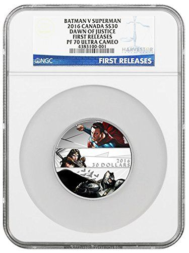 2016 CA Batman vs Superman: Dawn of Justice $30 - 2 oz. Fine Silver Coin - NGC PF70 FIRST RELEASES $30 PF70 NGC FIRST RE @ niftywarehouse.com #NiftyWarehouse #Superman #DC #Comics #ComicBooks