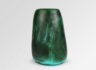 Large Resin Pebble Vase - Forest Malachite