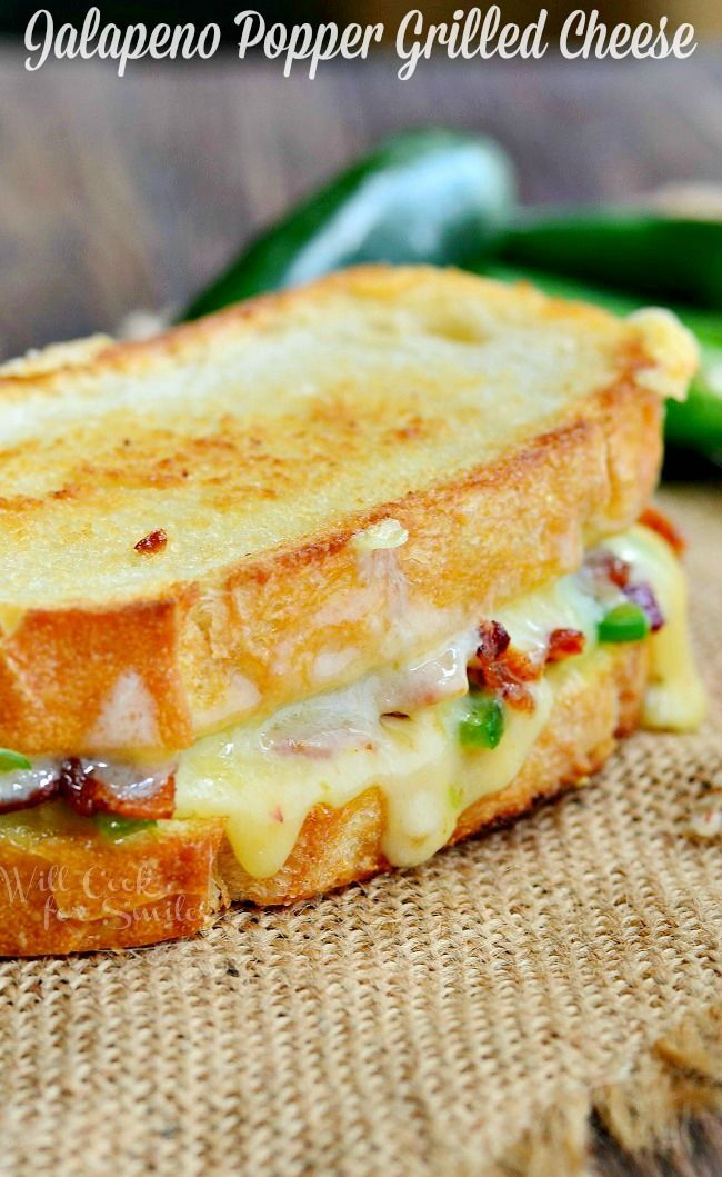 Jalapeno Popper Grilled Cheese from willcookforsmiles.com