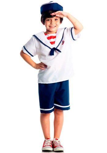 Fantasia Marinheiro Infantil C/ Chapéu Sulamericana :: FantasiasCarol