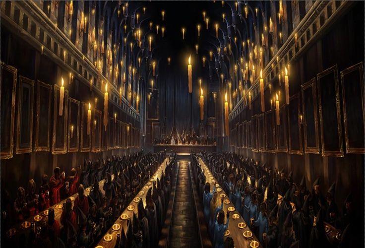 7x5 ft Hogwarts Dining Hall Candles Vinyl Digital Print