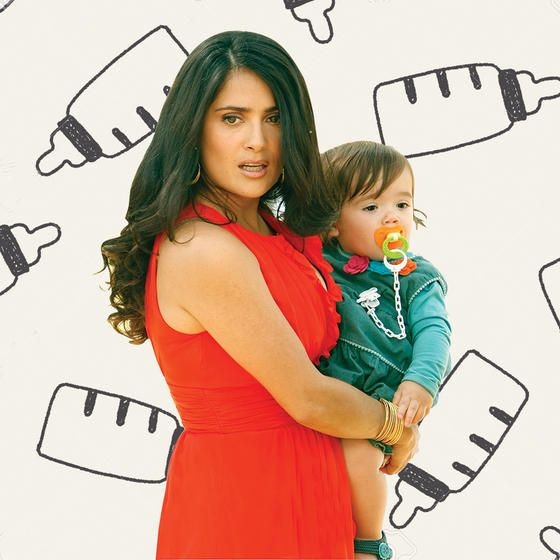 Salma Hayek LOVES breastfeeding. She's addicted.