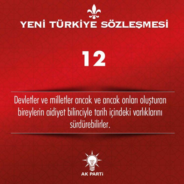 12.Madde, #YeniTürkiyeSözleşmesi