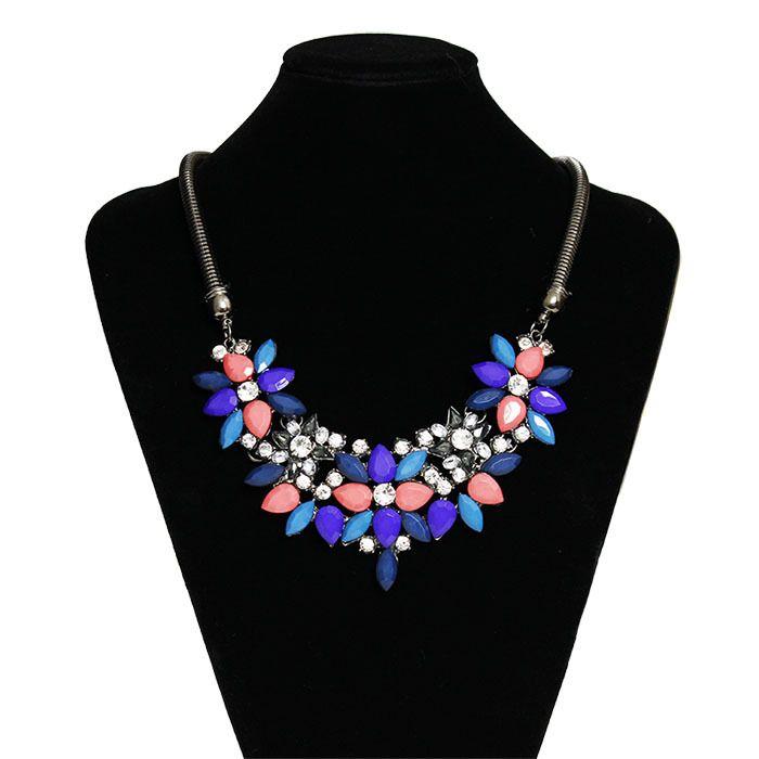 Купить товарОжерелья для женщины ткань акрил смола цветок ожерелье воротник себе ожерелье кулон # N416 в категории Кольена AliExpress.                                            N001 New Fashion Jewelry Hot Sale Popular