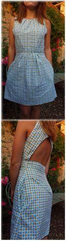Voici la robe Louise, sublime création de la blogueuse couture Vanda Démêle le Fil. Elle a partagé ce tutoriel gratuit, en français, sur son blog, accompagné du patron de couture et nous avons pensé que ce patron DIY d'une jolie petite robe printannière pourrait vous plaire. Parfait pour un mariage cet été !