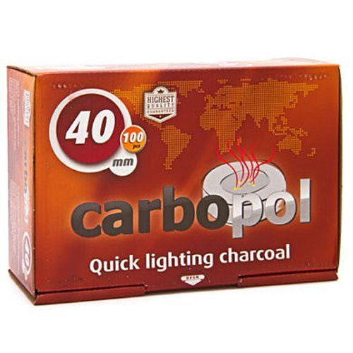 #Carbopol hookah coals are manufactured in Poland and provide a clean burning, taste-free quick light hookah charcoal option for hookah smokers. These are 40mm s...