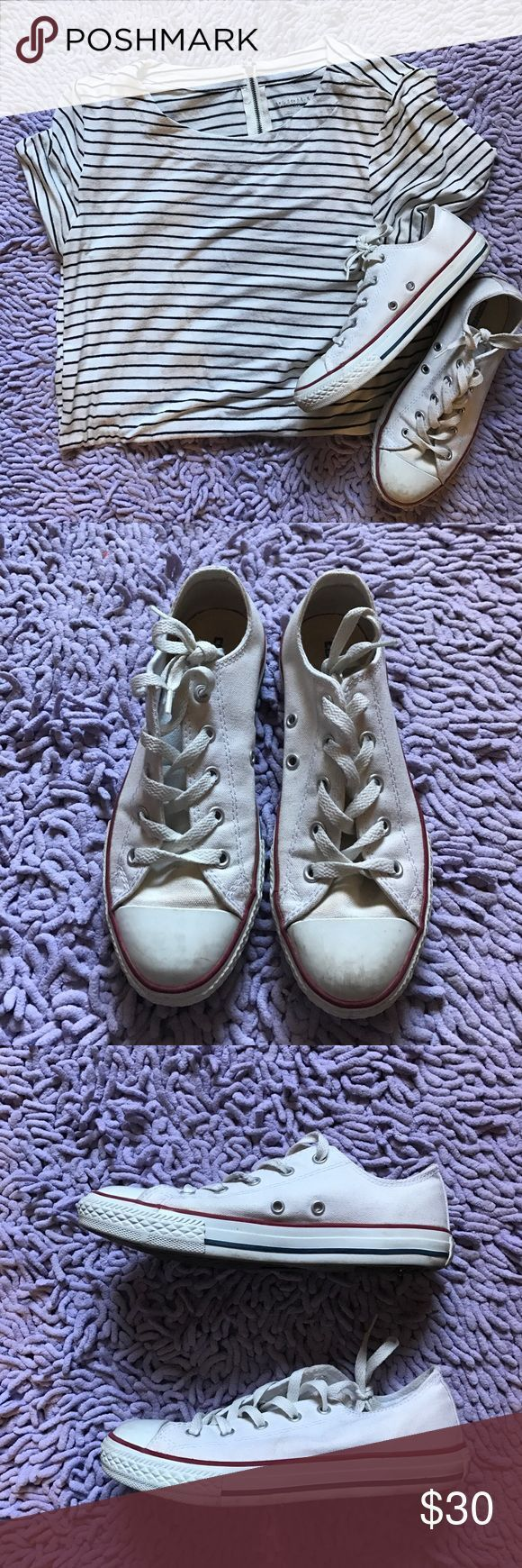 Tendance Basket 2017  Low rise original white converse Worn only a handful of times. Almost in perfect