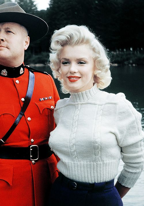 Marilyn Monroe photographed by John Vachon in Canada, 1953