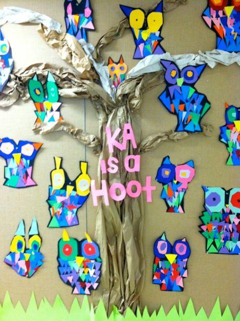 Kindergarten is a Hoot Bulletin Board