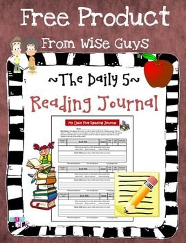 Daily 5 Reading Journal for Students FREE
