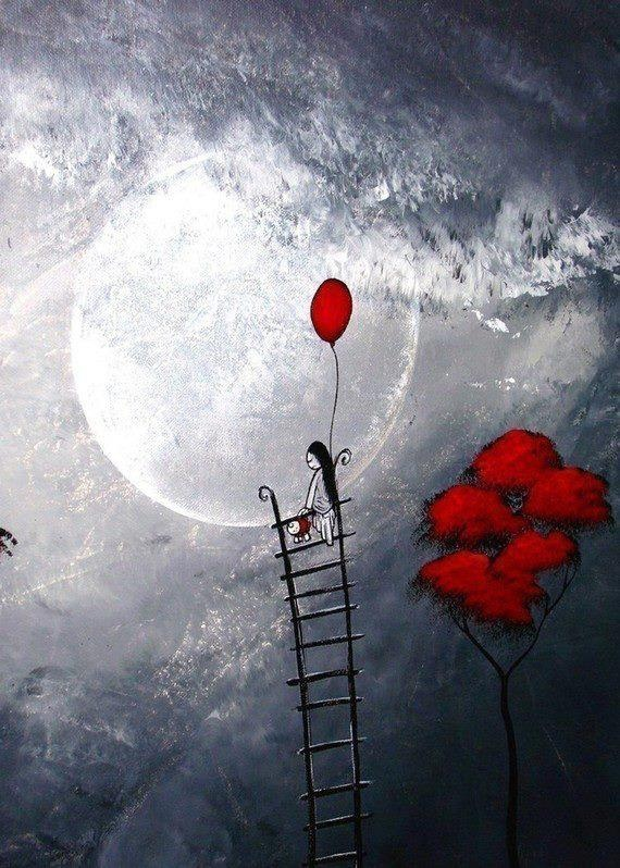 ---- A ladder to reach the moon. ~ being aware of what you need to get where you didn't think you could go.