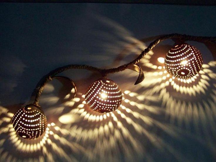 Lampe, Kokoslampe, Haengelampe, Handarbeit von Siamrose - Art & Decor auf DaWanda.com