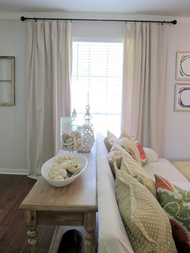 DIY drop cloth curtain panels | Live The Home Life
