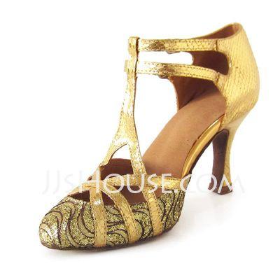 Dance Shoes - $35.99 - Women's Leatherette Sparkling Glitter Heels Pumps Modern With T-Strap Dance Shoes (053020143) http://jjshouse.com/Women-S-Leatherette-Sparkling-Glitter-Heels-Pumps-Modern-With-T-Strap-Dance-Shoes-053020143-g20143