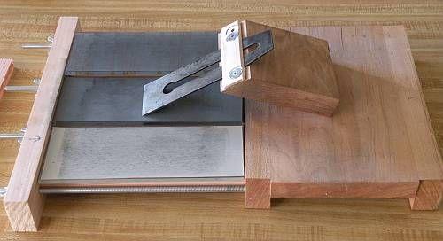 slanted jig on 3 wide stone vise, slanted jig