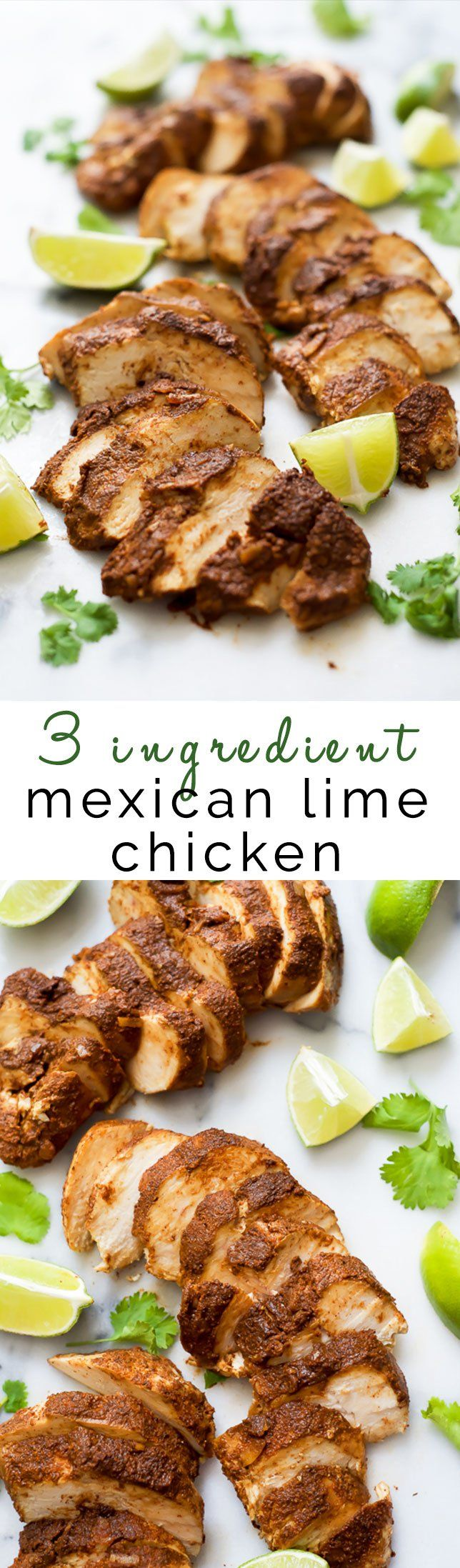 3 Ingredient Mexican Lime Chicken is a flavorful and amazingly delicious chicken that couldn't be any simpler to make. Perfect to add to tacos, burritos, tostadas and even salads! It will be your go to soon enough!