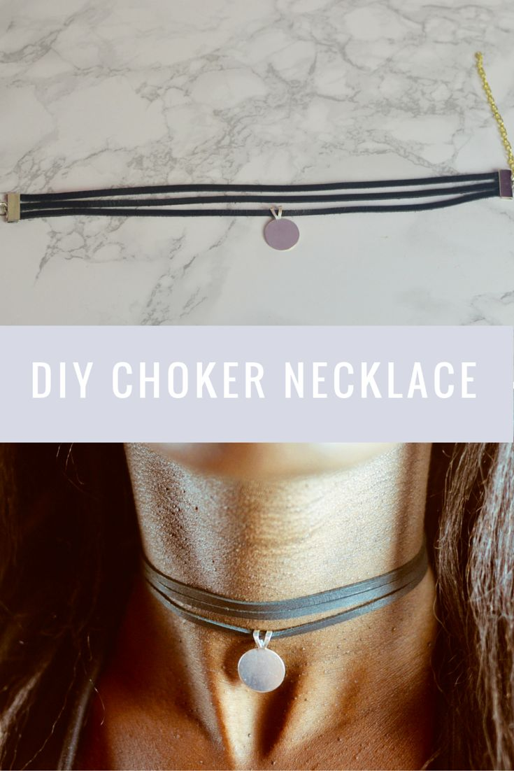 DIY Layered Choker Necklace with pendant - Very easy to make