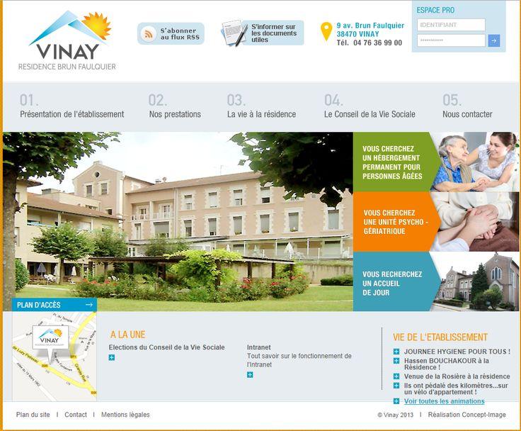 Site internet de l'EHPAD de Roybon
