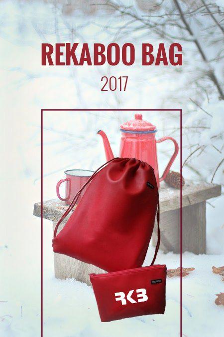 Winter wonderland with hot tea, good friends and red REKABOO BAG set.