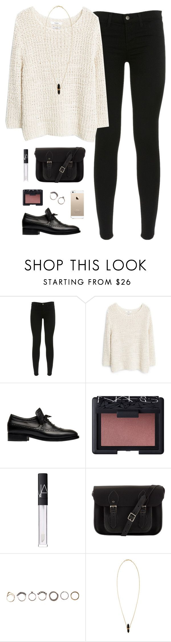 """happy holidays im baaaack; desc"" by classically-preppy ❤ liked on Polyvore featuring J Brand, MANGO, Balenciaga, NARS Cosmetics, The Cambridge Satchel Company, Iosselliani and Isabel Marant"
